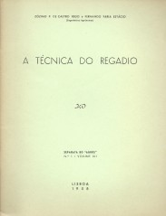 A TÉCNICA DO REGADIO.